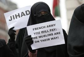 הפגנה אסלאמית נגד צרפת